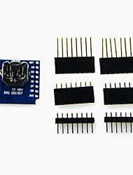 cheap -RTC DS1307 (Real Time Clock)  Battery - Shield for WeMos D1