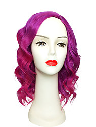 cheap -Women Synthetic Wig Capless Short Deep Wave Pink / Purple Layered Haircut Lolita Wig Party Wig Celebrity Wig Halloween Wig Cosplay Wig
