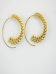 Women's Hoop Earrings Jewelry Personalized Statement Jewelry Alloy Flower Jewelry For Casual Going out