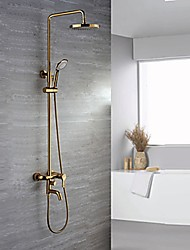 Luxury Glam Wall Mounted Rain Shower Handshower Included with  Ceramic Valve Ti-PVD , Shower Faucet