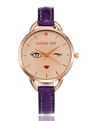 cheap -Women's Fashion Watch Wrist watch Unique Creative Watch Chinese Quartz PU Band Charm Casual Black White Blue Red Brown Gold Purple