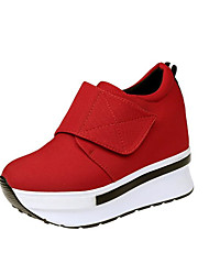 cheap -Women's Shoes Fabric Fall Winter Light Soles Sneakers Platform Round Toe Magic Tape For Casual Office & Career Red Black