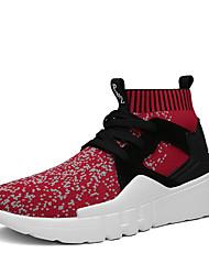 Недорогие -Для мужчин обувь Дышащая сетка Осень Зима Удобная обувь Спортивная обувь Для фитнеса Шнуровка Назначение Атлетический Повседневные Черный