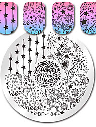 cheap -Nail Stamping Image Template Plates Stamper Scraper