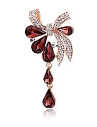 cheap -Women's Brooches Rhinestone Fashion Elegant Rhinestone Alloy Bowknot Jewelry For Party Casual
