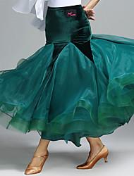 economico -Balli da sala Tutù e gonne Per donna Esibizione Velluto 1 pezzo Naturale Gonne