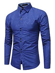 Недорогие -Муж. Большие размеры - Рубашка Шинуазери (китайский стиль) Однотонный