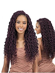 """cheap -Dread Locks Hair Braid Crochet Curly 100% kanekalon hair 100% Kanekalon Hair Auburn Burgundy Blonde Medium Auburn Strawberry Blonde 18"""" 1"""