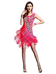 Shall We Latin Dance Dresses Women Fashion Performance Chinlon / Nylon Tassel(s) Dance Costumes
