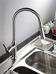 Standard Spout Centerset Ceramic Valve Chrome , Kitchen faucet