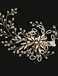 cheap -Imitation Pearl Rhinestone Alloy Flowers Hair Claws Hair Clip 1 Wedding Special Occasion Birthday Party / Evening Headpiece