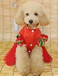 Chien Robe Vêtements pour Chien Mariage Princesse Rouge Costume Pour les animaux domestiques