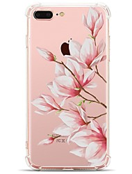 billige -Til iPhone X iPhone 8 Etuier Transparent Mønster Bagcover Etui Blomst Blødt TPU for Apple iPhone X iPhone 8 Plus iPhone 8 iPhone 7 Plus