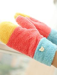 Недорогие -Для женщин Аксессуары На каждый день Мультяшная тематика Зимние перчатки Сохраняет тепло Вязаная одежда Милый Мода До запястья С пальцами,