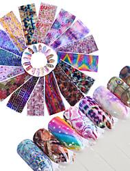 preiswerte -16 Glitzer Muster Zubehör Art déco/Retro 3D Nagel Sticker Aufkleber Bastelmaterial 3-D Modisch Alltag Gute Qualität