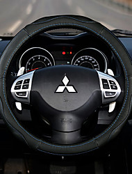 cheap -Steering Wheel Covers Genuine Leather 38cm Beige / Black / Red / Black / Blue For Mitsubishi Outlander / Mitsubishi / Mitsubishi ASX