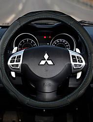 preiswerte -Lenkradbezüge Echtleder 38cm Beige / Schwarz / Rot / Schwarz / Blau For Mitsubishi Outlander / Mitsubishi / Mitsubishi ASX