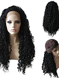 cheap -Women Synthetic Wigs Lace Front Long Curly Afro Black African American Wig For Black Women With Baby Hair Party Wig Halloween Wig Natural