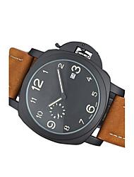 Муж. Модные часы Кварцевый Натуральная кожа Группа Повседневная Черный Коричневый