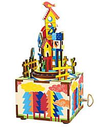 abordables -Boîte à musique Jouets A Faire Soi-Même Articles d'ameublement Cheval Carrousel Dessin Animé En bois Bois 1 Pièces Unisexe Anniversaire