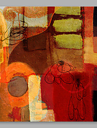 cheap -Oil Painting Hand Painted - Abstract Artistic Canvas