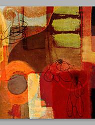 abordables -Peinture à l'huile Hang-peint Peint à la main - Abstrait Artistique Toile