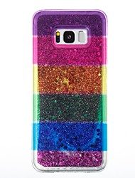 cheap -Case For Samsung Galaxy S8 Plus S8 Flowing Liquid Back Cover Glitter Shine Soft TPU for S8 S8 Plus S7 edge S7 S6 edge S6 S5