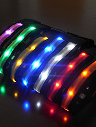 Collar Reflective LED Light Strobe/Flashing Solid Nylon