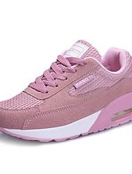 Damen Schuhe Kunstleder Herbst Komfort Leuchtende Sohlen Sneakers Flacher Absatz Runde Zehe Schnürsenkel Kombination Für Normal Weiß