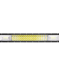 LED Tri-Row Light Bar Straight 324W 32400LM Off Road Driving Fog Lights Lens Super Bright for Jeep Trucks Boats ATV Cars IP68 9-32V DC