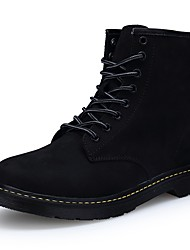 cheap -Men's Shoes PU Spring Fall Comfort Snow Boots Riding Boots Fashion Boots Motorcycle Boots Combat Boots Boots Booties/Ankle Boots Mid-Calf