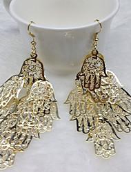 abordables -Mujer Borla Pendientes cortos / Pendientes colgantes - Acero inoxidable Personalizado, Moda Dorado / Plata Para Casual / Discoteca