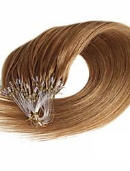 boucle d'extension de cheveux grammy 16-24inch anneau de boucle micro 100% réel remy extensions de cheveux humains 50g 100s / pack