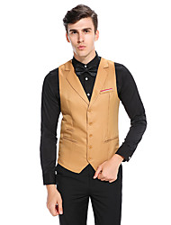 cheap -Men's Casual/Daily Casual Fall Winter Vest