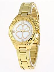 abordables -Mujer Cuarzo Reloj de Pulsera Chino Gran venta Aleación Banda Casual Moda Plata Dorado