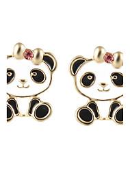 Femme Boucles d'oreille goujon Bijoux Animal Adorable Alliage Panda Bijoux Pour Cérémonie Nouvelle Année