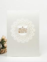 abordables -Livre d'or Papier Satin Autres Thème asiatique Vacances Thème classique Thème de conte de fées Romance MariageWithNœud papillon blanc