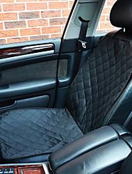 Недорогие -Собака Чехол для сидения автомобиля Животные Коврики и подушки Однотонный Компактность Складной Черный