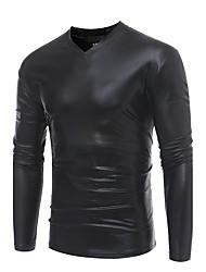 abordables -Homme Col Arrondi Punk & Gothique Pull à capuche & Sweatshirt - Paillettes Imprimé, Couleur Pleine