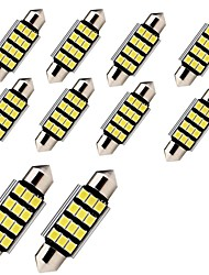 10pcs 41mm C5W 2835 SMD 12 LED Canbus Error Free Car Auto Interior Festoon Dome Reading Light Lamp DC12V