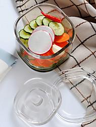 1 Cozinha Vidro Armazenamento de alimentos
