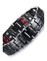 cheap -Men's Chain Bracelet Bangles Multi-stone Natural Fashion Titanium Steel Circle Jewelry Jewelry For Gift Daily
