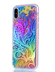 For iPhone X iPhone 8 iPhone 8 Plus Case Cover Plating Back Cover Case Flower Soft TPU for Apple iPhone X iPhone 8 Plus iPhone 8 iPhone 7