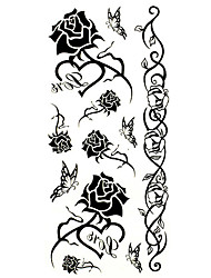 Tattoo Stickers Flower Series Pattern Lower Back Waterproof Women Men Teen Flash Tattoo Temporary Tattoos