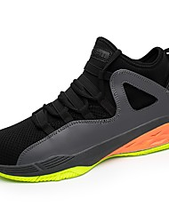 cheap -Men's Shoes Breathable Mesh PU Fall Winter Comfort Athletic Shoes Basketball Shoes Lace-up For Athletic Outdoor Gray Black White