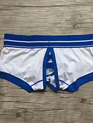 Hombre Sexy Bloques Boxer Slip Modal Licra