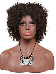 Donna Parrucche sintetiche Senza tappo Pantaloncini Afro Ricci Jheri Nero Parrucca riccia stile afro Per donne di colore Parrucca Cosplay