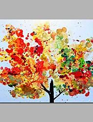 Недорогие -цвет дерево декор стены рука окрашены современные картины маслом современное произведение искусства стены