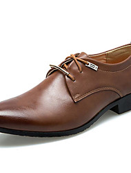 cheap -Men's Shoes Leatherette Fall / Winter Formal Shoes Oxfords Black / Brown / Party & Evening / Dress Shoes