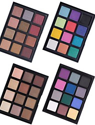 preiswerte -12 Lidschattenpalette Trocken Matt Schimmer Mineral Lidschatten-Palette Alltag Make-up Halloween Make-up Party Make-up Feen Makeup Cateye